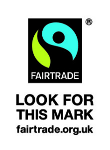Fairtrade symbol for fairtrade fudge at Devon Cottage Organic Fudge